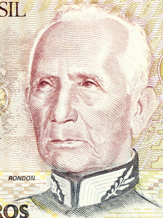 Candido Rondon portrait from Brazilian money