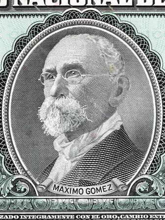 maximo: Maximo Gomez portrait from Cuban money