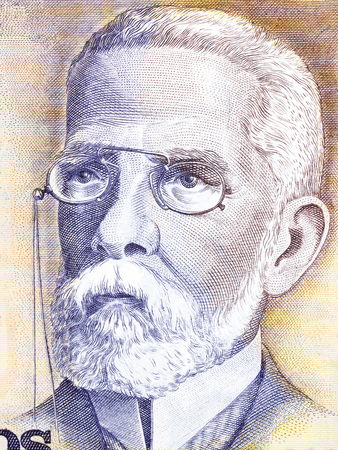novelist: Machado de Assis portrait from Brazilian money