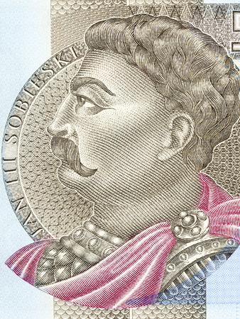 John III Sobieski portrait from Polish money