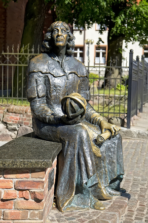 Statue of Nicolaus Copernicus in Olsztyn, Poland