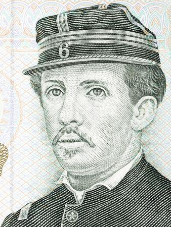 ignacio: Ignacio Carrera Pinto portrait from Chilean money Stock Photo