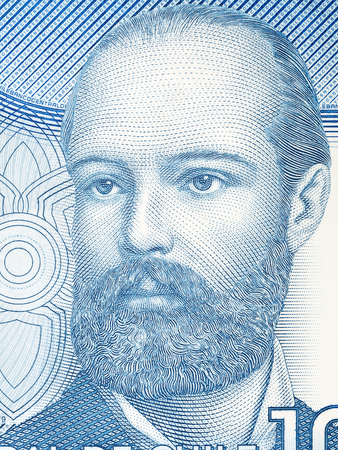Arturo Prat Chacon portrait from Chilean money