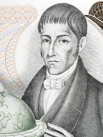 Francisco Jose de Caldas portrait from Colombian money