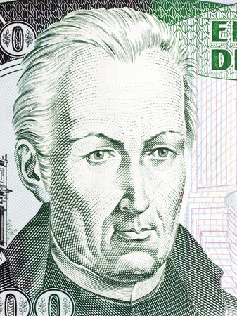 Jose Celestino Mutis portrait from Colombian money