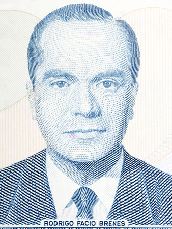 costa rican: Rodrigo Facio Brenes portrait from Costa Rican money