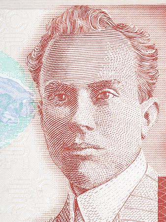 costa rican: Clodomiro Picado Twight portrait from Costa Rican money Stock Photo