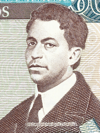 Pedro Henriquez Urena portrait from Dominican money