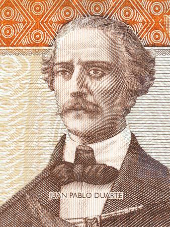 Juan Pablo Duarte portrait from Dominican money Stok Fotoğraf - 85891797