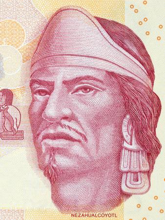 Nezahualcoyotl portret van Mexicaans geld Stockfoto