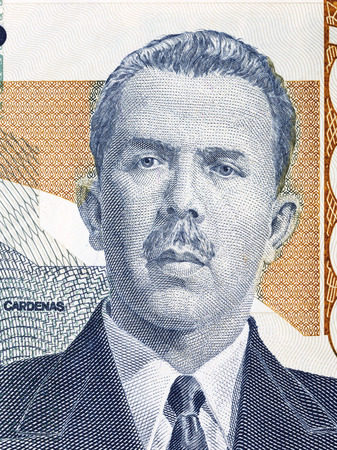 Lazaro Cardenas portrait from Mexican money