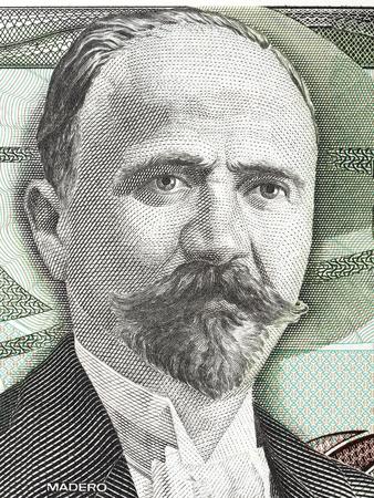 古いメキシコのお金からサンフランシスコ ・ イグナシオ ・ マデロの肖像画