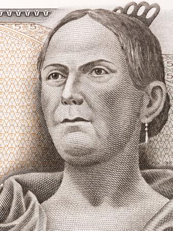 ヨーゼファ ・ オルティス ・ デ ・ ドミンゲス - メキシコ ペソからラ Corregidora の肖像画 写真素材 - 87016062
