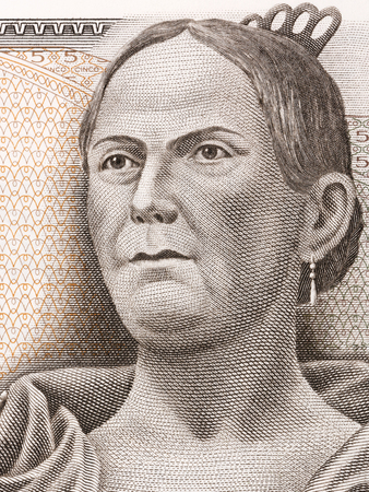 Josefa Ortiz de Domínguez - La Corregidora portrait from Mexican Pesos
