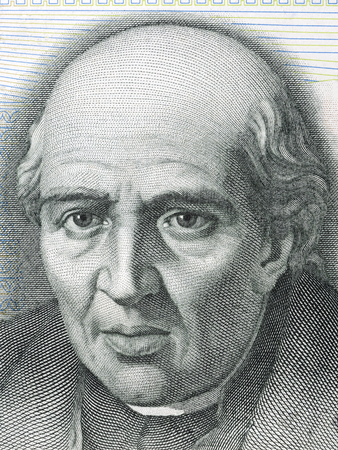 Miguel Hidalgo y Costilla portrait from Mexican Pesos