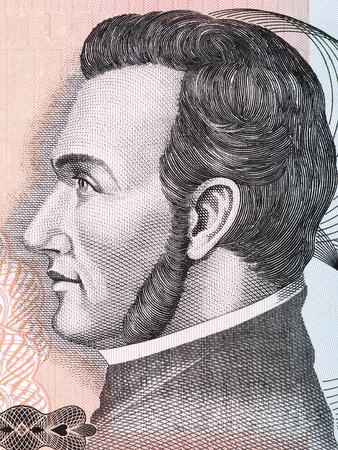 Francisco Morazan portrait from Honduran money Stock Photo