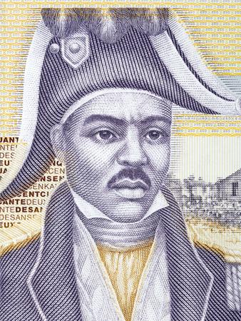 Jean-Jacques Dessalines portrait from Haitian money Stock Photo