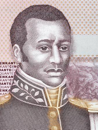 Francois Capois portrait from Haitian money Stock Photo