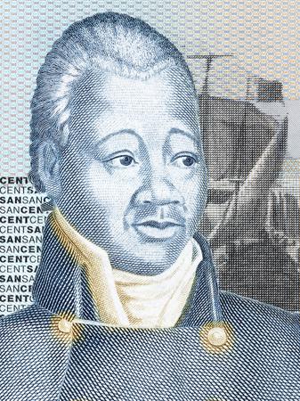 Henri Christophe portrait from Haitian money Stock Photo