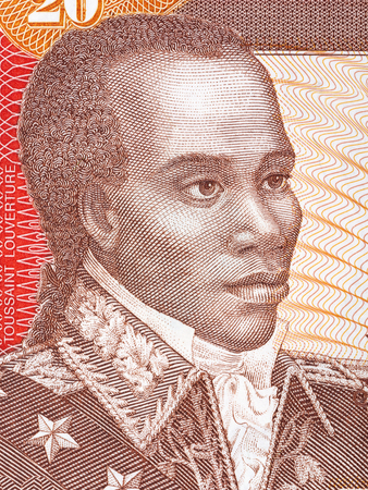 Toussaint Louverture portrait from Haitian money
