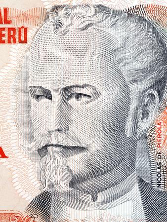 Nicolas de Pierola portrait from Peruvian money