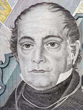 Andres Bello portrait from Venezuelan money Editorial