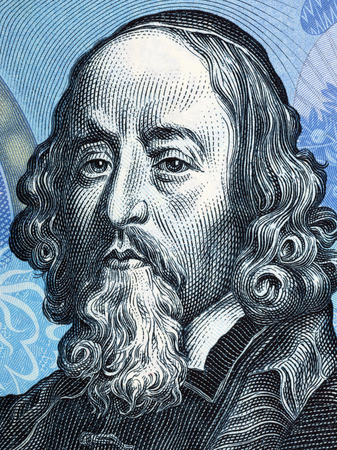 John Amos Comenius portrait from Czechoslovak money