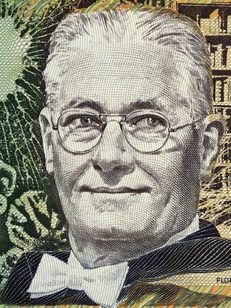 Howard Florey portrait from Australian money