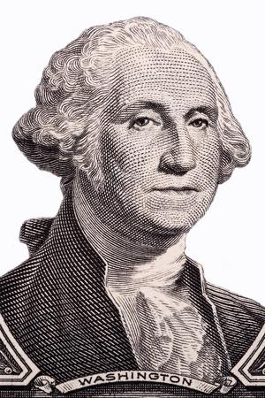 George Washington, portrait on a white background 写真素材