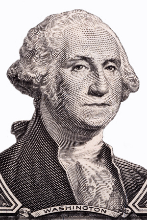 George Washington, portrait on a white background Archivio Fotografico