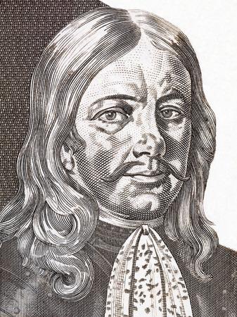Johann Weikhard von Valvasor portrait from Slovenian money
