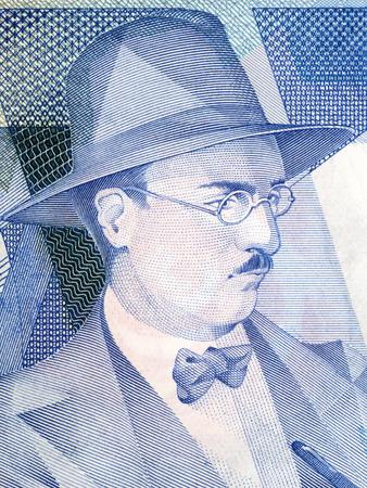 Fernando Pessoa portrait from Portuguese money
