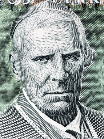 Motiejus Valancius portrait from Lithuanian money