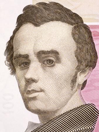 Taras Shevchenko portrait from Ukrainian money