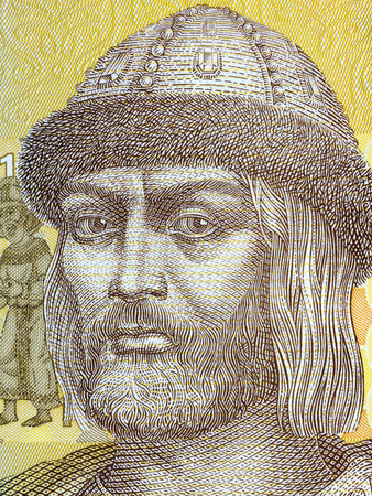 Vladimir the Great portrait from Ukrainian money Фото со стока