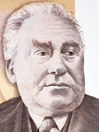 Constant Permeke portrait from Belgian money