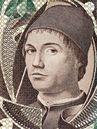 Anthony of Messina portrait from Italian money
