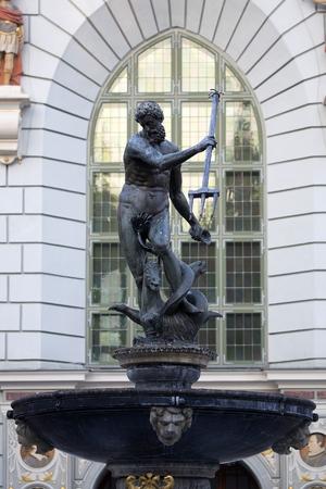 Neptunes Fountain Statue in Gdansk