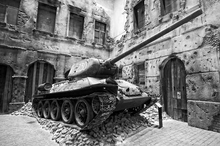 Réservoir de Musée de la Seconde Guerre mondiale à Gdansk