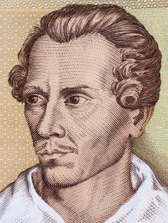 Juliusz Slowacki portrait from Polish money Editöryel