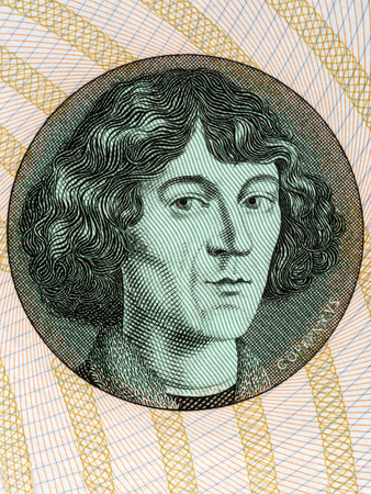 Nicolaus Copernicus portrait from Polish money