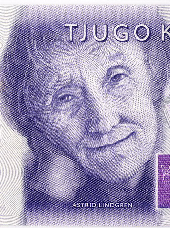 Astrid Lindgren portrait from Swedish money