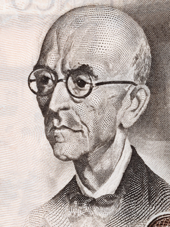 Manuel de Falla portrait from Spanish money