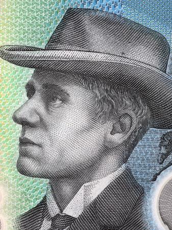 Andrew Barton Banjo Paterson portrait from Australian money