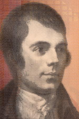 Robert Burns portrait from Scottish money Foto de archivo
