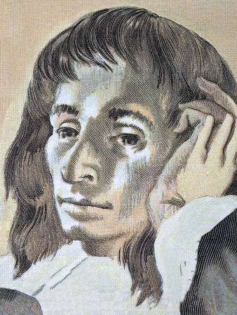 Blaise Pascal portrait from French money Editorial