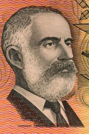 Lawrence Hargrave retrato del viejo dinero australiano Editorial