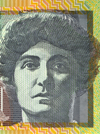 Nellie Melba portrait from Australian money 版權商用圖片
