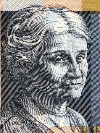 Edith Cowan portrait from Australian money 版權商用圖片