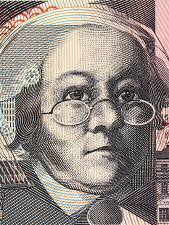 Mary Reibey portrait from Australian money